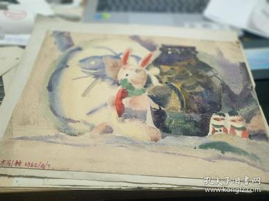 方润秋先生五至60年代水彩画之十二