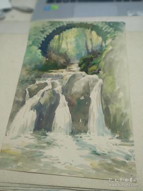 方润秋先生五至60年代水彩画之十六