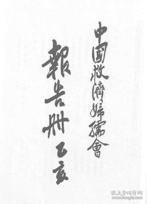 中国救济妇孺会报告册(乙亥) 1935年版(复印本)