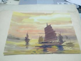 方润秋先生五至60年代水彩画之十七