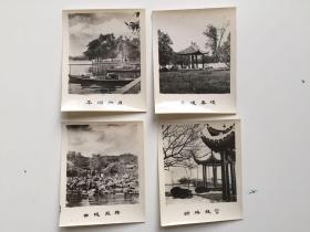 早期、西湖风景照片4张 尺寸:6.2X5.1厘米