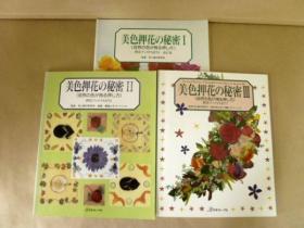 中日文双语版  押花书  美色押花的秘密 1-3  3册合售   品好  包邮