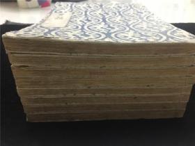 和刻本版画《百人一首一夕话》存8册8卷。木刻版画数十幅,大石真虎画,刻画细腻,雕工佳。江户中后期刻本