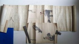 """上世纪五十年代木板水印李可染""""牧童迎喜""""等画二张(一张未装裱、保真)"""