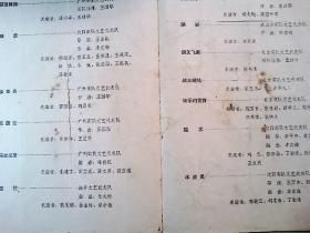 节目单:杂技晚会(中国人民解放军第三届文艺汇演大会.1964年)(品低慎重下单)