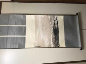 D-0048回流美术 朵云轩早期木板水印 NO 8172-1423A 《 傅抱石平沙落雁》纸本立轴尺寸150*71厘米 画心60*55厘米
