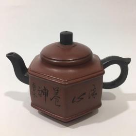 高建芳竹纹六方壶
