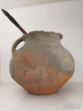 红陶罐(文革时期,农村大搞农田基本建设时,出土的齐家文化红陶罐)