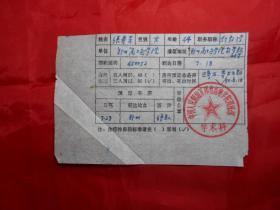 郑州高*炮学院 副教授 张秀芳 1990年填写的《激光学术会议开会通知回执》