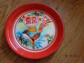 喜鹊搪瓷盘