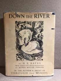 Down the River锛圚. E. 璐濊尐銆婇『娴佽�屼笅銆嬶紝Agnes Miller Parker鏈ㄥ埢鐗堢敾鎻掑浘83骞咃紝绮捐澶у紑鏈紝闅惧緱甯︽姢灏侊紝1937骞寸弽璐电編鍥藉垵鐗堬級