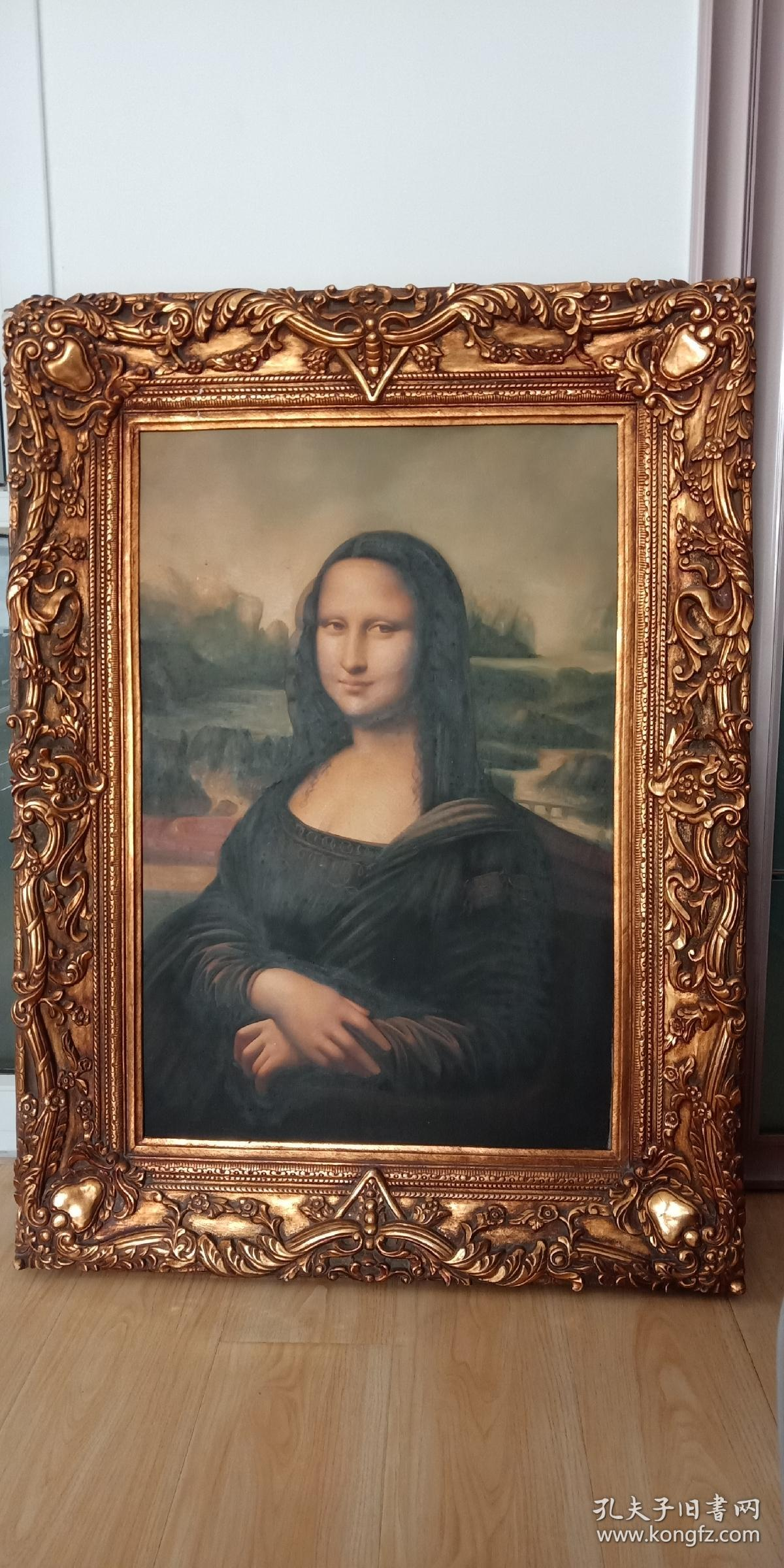 手绘蒙娜丽莎油画图片