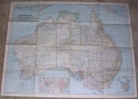 现货 national geographic美国国家地理地图1948年3月Australia澳大利亚