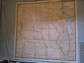 现货 national geographic美国国家地理地图1948年6月North Central US美国中北部