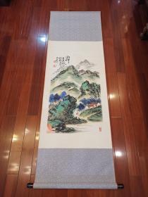 著名画家朱屺瞻(款)山水立轴
