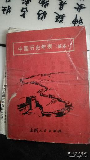 中国历史年表《简本》