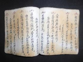 清代或是民国时期手抄医书,前半本是药性,药理,适合治何种病,后半本是药方,尺寸13.5*13.5*1.5