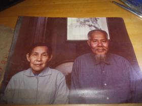 广东省名老中医影相---16开大小相片1张---应为区金浦先生夫妇合影-