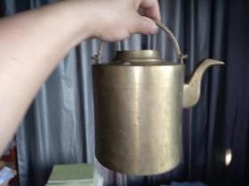 纯铜鸭嘴型 提梁茶壶