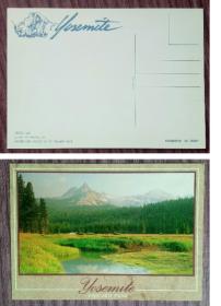 外国明信片,美国原版,约塞米蒂公园,品如图