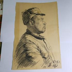西安美术学院五十年代人物画素描作品