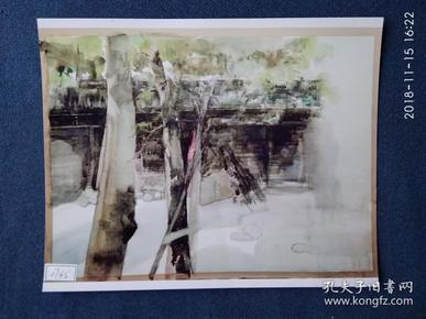 水粉画参赛作品签名照片《谧》作者:梅钊钊