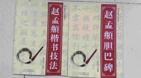 名家书法教程:赵孟頫楷书技法+赵孟頫胆巴碑