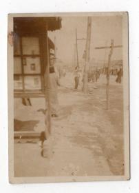 民国报纸图片类----民国原版老照片--1930年前后时间, 中国东北街景
