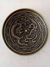纯铜铜碗·铜盘·龙凤呈祥铜碗·精美浮雕雕刻·笔洗·摆件.