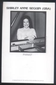美国艺术使者钢琴家谢安塞奎恩女士独奏音乐会(节目单)