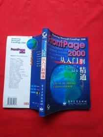 正版 FRONTPAGE2000從入門到精通(內頁全新)