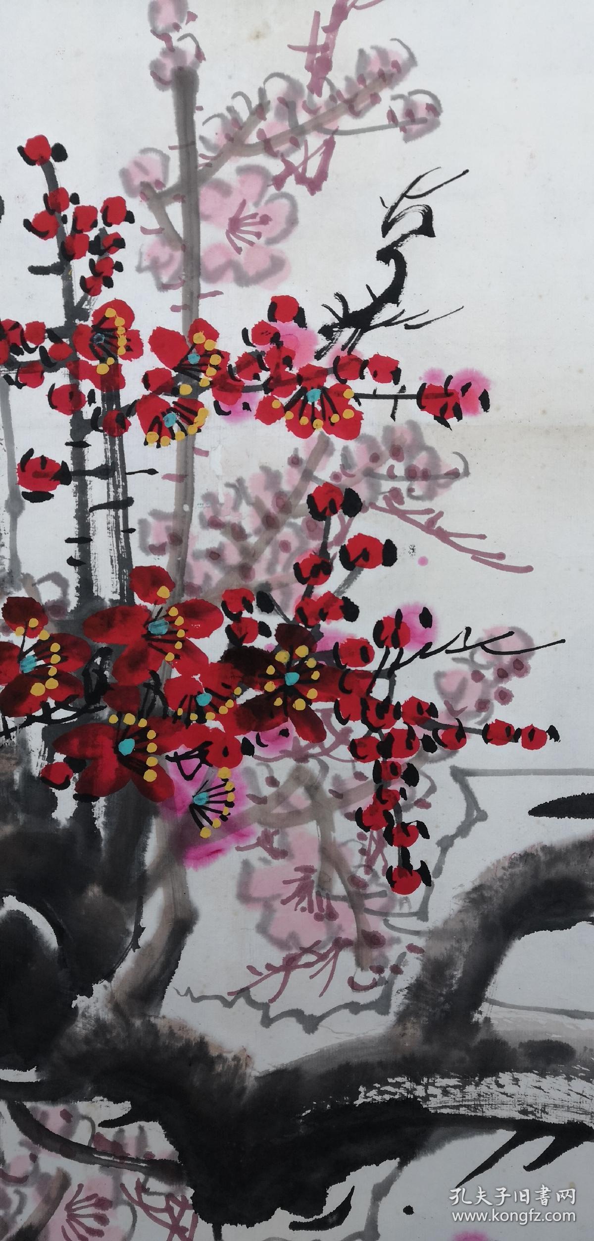安徽著名老画家(秦冠君)……44*90……梅花图片
