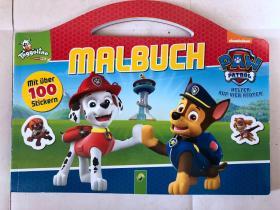 平装 带100张 贴纸 malbuch schwager steinlein  绘画 着色书 封面德语 内页无字