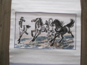 朵云轩宣纸木板水印《徐悲鸿 奔马》