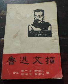 《鲁迅文摘》 64开( 武汉 新一冶 新华工 新湖大 新华农 编)
