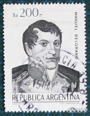 阿根廷邮票-----贝尔格拉诺(盖销票)