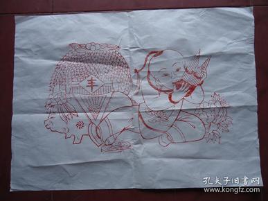 宣纸木版年画(丰收)