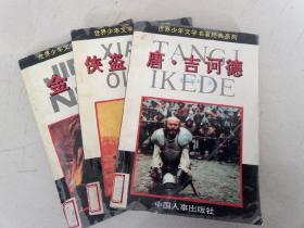 世界少年文学名著经典系列(金银岛+侠盗罗宾汉+唐吉诃德)共计3本
