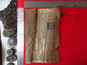 民国历书一册,品相有点差,有破损如图,品如图