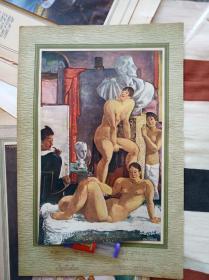民国时期日式西洋美术美术纸影粘贴,内部均有简介!