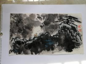 观瀑2011年(画家本人提供)