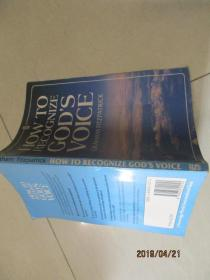 HOW TO RECOGNIZE GODS VOICE   详情如图  实物图 品自定 32开本  13-1