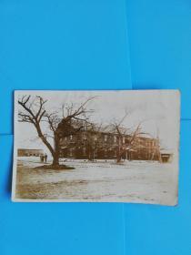 侵华铁证.日本关东军军营老照片长11.1宽7.6厘米
