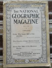 National Geographic July 1920 国家地理杂志 1920年7月号  原版进口 满百包邮
