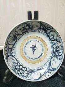 瓷器,全手工手绘青花寿字盘,年代不详,请自荐。尺寸看图。