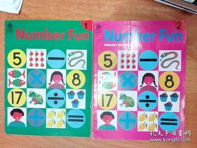 英文原版书:Number Fun 1.2 (PRIMARY MATHEMATICS) (一二册 16开本 小学数学教育系列)