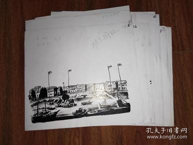 保真画稿:难忘国耻八国联军侵华插图连环画 手绘原稿 43张合售 /HG001