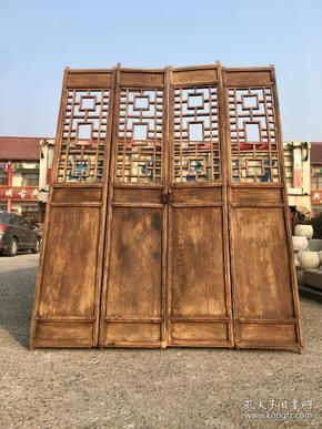 榆木隔扇一套,做工精湛,皮壳老辣,会所茶室摆设…高210厘米,每片宽41厘米