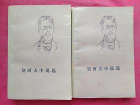 《契科夫小说选》共二册1982年5印(1956年4月北京一版,1960年北京二版、人民文学出版社、有钢笔签字:汤泽敏)