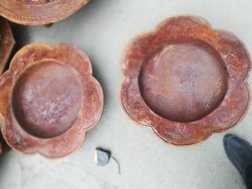 铁盆2个圆形直径50厘米高16厘米